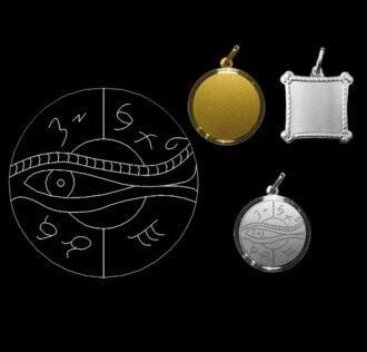 TALISMANO - L'OCCHIO DI OSIRIDE - ARGENTO
