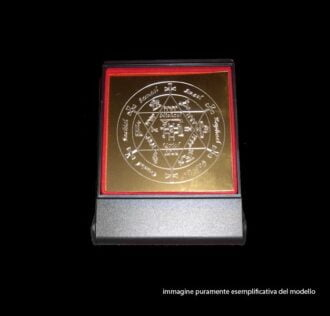 Plate Talisman of  Archangel Thavael - cm 8 x 8