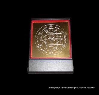 Plate Talisman of  Archangel Zadkiel - cm 8 x 8