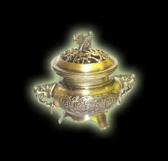 Incense burner TIBETAN COPPER COLOR METAL