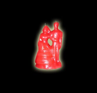 BRIDE AND GROOM CANDLE - RED CM 12