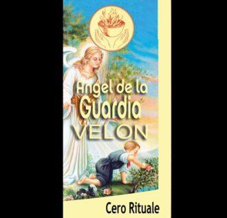 CANDELA  RITUALIZZATA DELL'ANGELO CUSTODE - ANGEL DE LA GUARDIA - MISURA CM 18.5 X 5.5