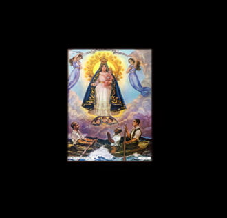 VIRGIN OF COBRE CHARITY  - sublimation ON ALUMINUM 30 X 20 CM