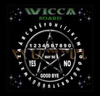 TAVOLA SEDUTA SPIRITICA WICCA BOARD CM 29 X 29 + MINILIBRO + PLANCHETTE