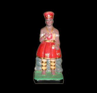 Plaster Statue Xango Candomblè cm 25