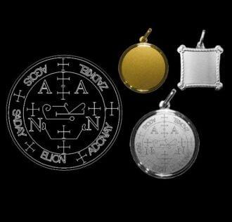 The seal of Archangel Zadkiel - Silver 925